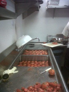 Tomato Processing in action