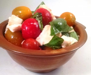 Caprese salad is on the menu this week!